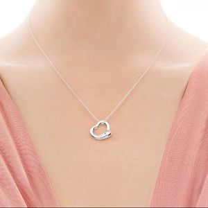 Tiffany & Co sterling small Peretti open heart